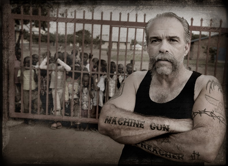 MGP Sam Childers at the main gate  to his orphange in Nimule South Sudan 3